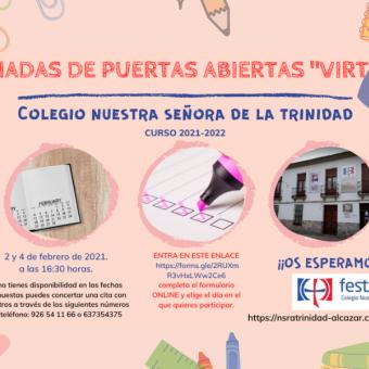 """JORNADAS DE PUERTAS ABIERTAS """"VIRTUAL"""" 2021"""
